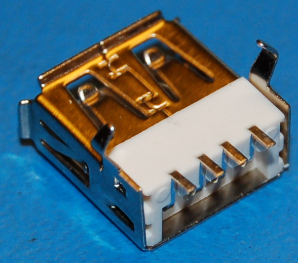 USB Type A Receptacle, PCB Mount (Right-Angle SMD)